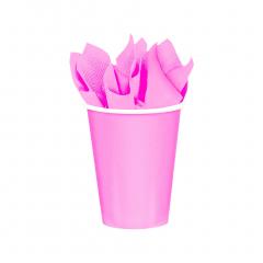 Χάρτινα ποτήρια ροζ 8τεμ