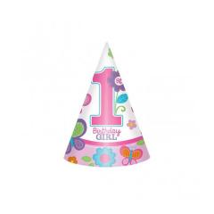 Καπελάκια Sweet 1st Birthday Girl 8τεμ