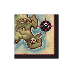 Σετ χαρτοπετσέτες Pirates Map 16τεμ