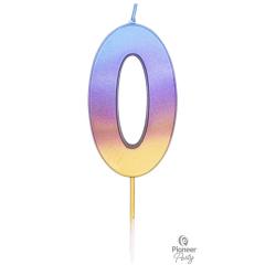 Κερί Νούμερο 0 Rainbow Ombre