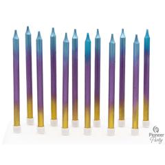 Κεριά Rainbow Ombre 11.5εκ