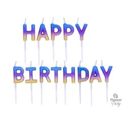 Κεριά Happy Birthday Rainbow Ombre