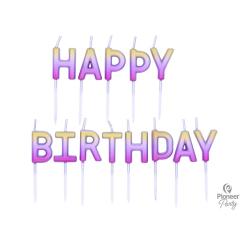 Κεριά Happy Birthday Rose Gold Ombre