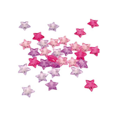 Πλαστικά κομφετί αστεράκια σε ροζ αποχρώσεις