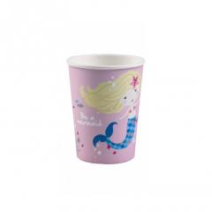 Χάρτινα ποτήρια Be A Mermaid 8τεμ