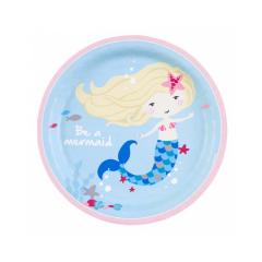 Χάρτινα πιάτα φαγητού Be A Mermaid 8τεμ