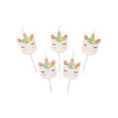 Κεράκια τούρτας We Love Unicorn 5τεμ