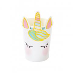 Χάρτινα ποτήρια We Love Unicorn 8τεμ