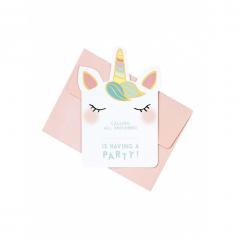 Προσκλήσεις γενεθλίων We Love Unicorn 8τεμ