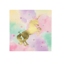 Χαρτοπετσέτες μεγάλες Foil Unicorn Sparkle 16τεμ