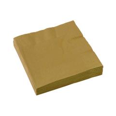 Χαρτοπετσέτες φαγητού 33εκ χρυσό 20τεμ