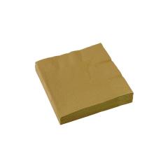 Χαρτοπετσέτες γλυκού 25εκ χρυσό 20τεμ
