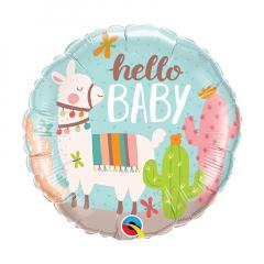 Μπαλόνι Hello Baby Llama αλουμινίου 45 εκ.