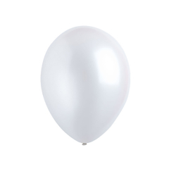 Μπαλόνια λάτεξ μεταλλικό λεύκο