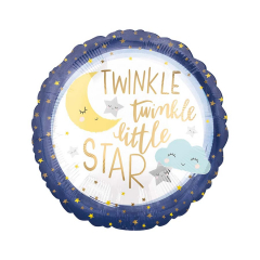Μπαλόνι foil Twinkle Twinkle Little Star 45εκ