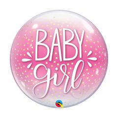Μπαλόνι Baby Girl Pink n Confetti Dots
