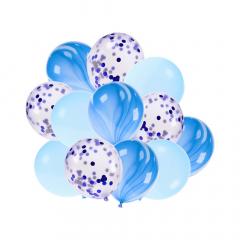 Σετ μπαλόνια λάτεξ σιέλ 12τεμ