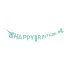 Γιρλάντα Happy Birthday Narwhal Party 2μ