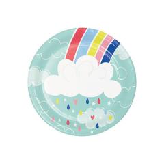 Χάρτινα πιάτα γλυκού Over the Rainbow 8τεμ
