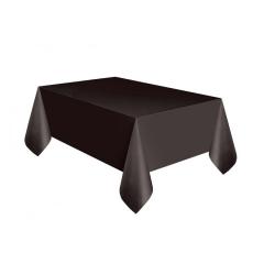 Πλαστικό τραπεζομάντηλο μαύρο 137x274εκ