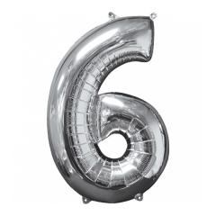 Μπαλόνι Φοιλ Ασημί Νούμερο 6