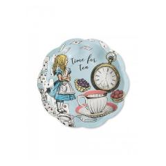 Χάρτινο πιάτο γλυκού Truly Alice 12τεμ