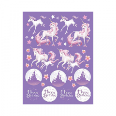 Σετ αυτοκόλλητα Unicorn Fantasy 4 φύλλα