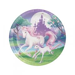 Χάρτινα πιάτα φαγητού Unicorn Fantasy 8τεμ