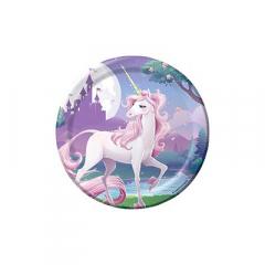 Χάρτινα πιάτα γλυκού Unicorn Fantasy 8τεμ