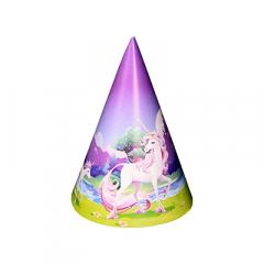 Χάρτινα καπελάκια Unicorn Fantasy 8τεμ