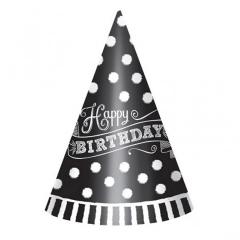 Καπελάκια Birthday Black & White 12τεμ