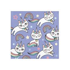 Χαρτοπετσέτες μικρές Sassy Caticorn 16τεμ