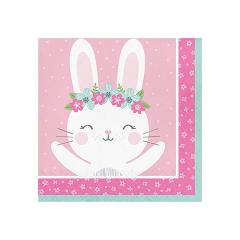 Χαρτοπετσέτες μεγάλες Birthday Bunny 16τεμ