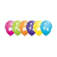 Μπαλόνια λάτεξ Ζωάκια της ζούγκλας 25τεμ