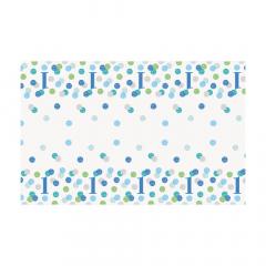 Πλαστικό τραπεζομάντιλο Blue dots 1st 137x213 εκ