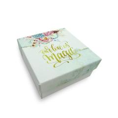 Κουτί μπομπονιέρας χάρτινο τυπωμένο 8x8x4εκ Twenty2Twins
