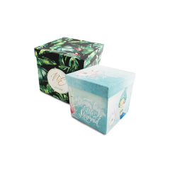 Κουτί διακόσμησης χάρτινο τυπωμένο 14x14x14εκ Twenty2Twins