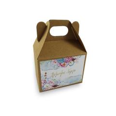 Lunch box craft με αυτοκόλλητο μεγάλο 18x12x14εκ Twenty2Twins