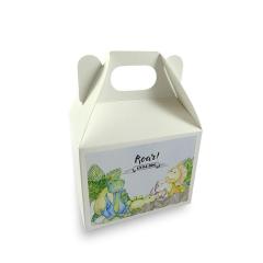 Lunch box λευκό με αυτοκόλλητο μεγάλο 18x12x14εκ Twenty2Twins