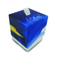 Κουτί με κορδέλα λευκή γκρο 7,5x7,5x8,5εκ Twenty2Twins