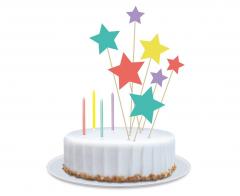 Σετ διακόσμησης τούρτας πολύχρωμα Αστεράκια 11τεμ.