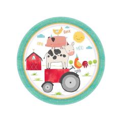 Πιάτα χάρτινα φαγητού Ζωάκια Φάρμας Barnyard Birthday / 8 τεμ