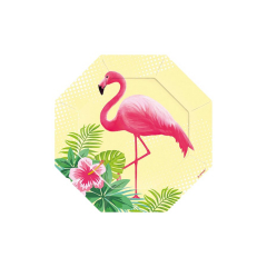 Πιάτα χαρτινα γλυκού Flamingo Paradise (6τεμ)