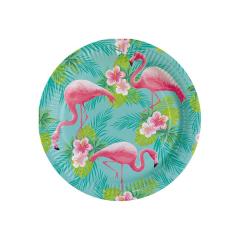 Πιάτα χάρτινα φαγητού Flamingo Paradise (8 τεμ)