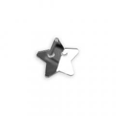 Αστεράκι πλεξιγκλάς ασημί 5x5εκ 5τεμ