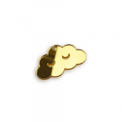 Συννεφάκι πλεξιγκλάς χρυσό 5x3εκ 5τεμ