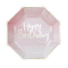 Χάρτινα πιάτα ροζ ombre Pick and Mix