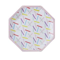 Χάρτινα πιάτα γραμμικό μοτίβο Pick and Mix