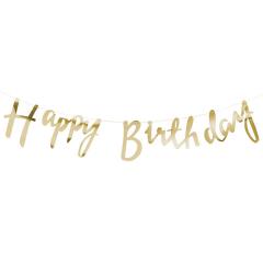 Γιρλάντα χρυσή Happy Birthday Pick and Mix