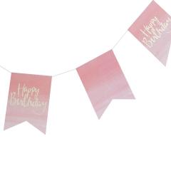 Γιρλάντα σημαίες ροζ ombre Pick and Mix
